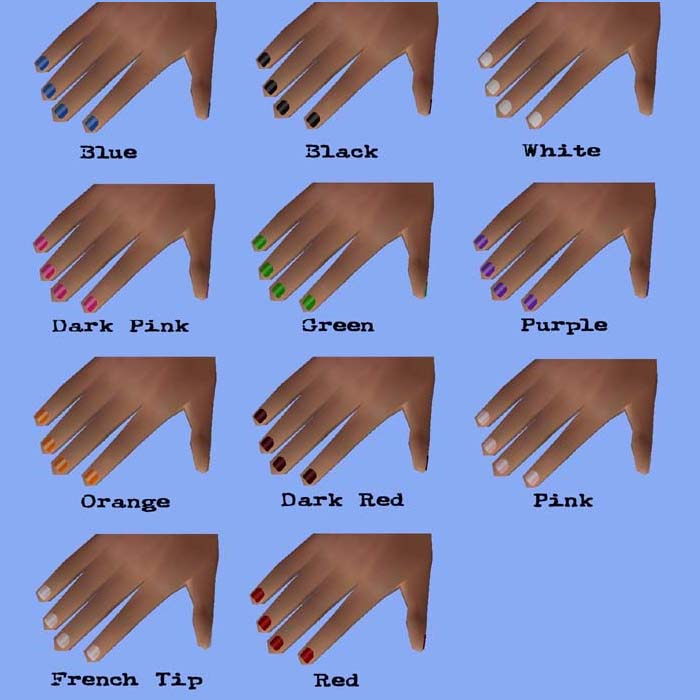 Downloads: Miscellaneous: Nail Polish (short nails)